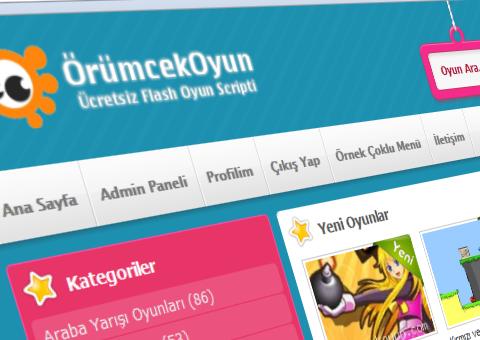ÖrümcekOyun - Türkçe Flash Oyun Scripti