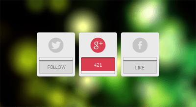 , Takipçi sayısını gösteren sosyal profil tasarımı