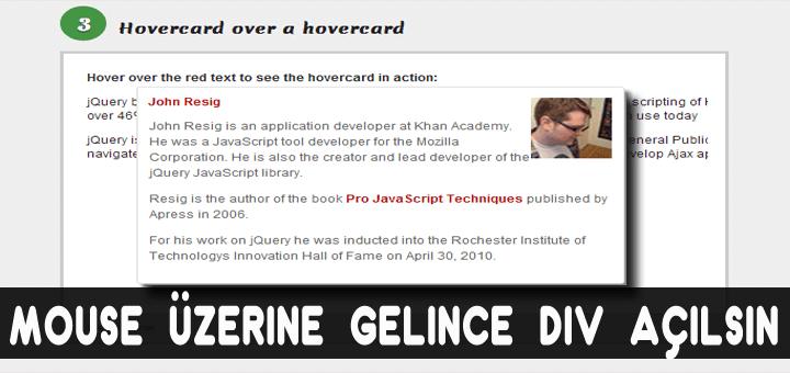 , HoverCard.js – Mouse üzerine gelince açılan pencere