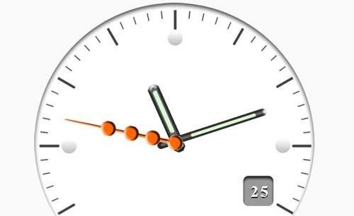 siteye analog saat