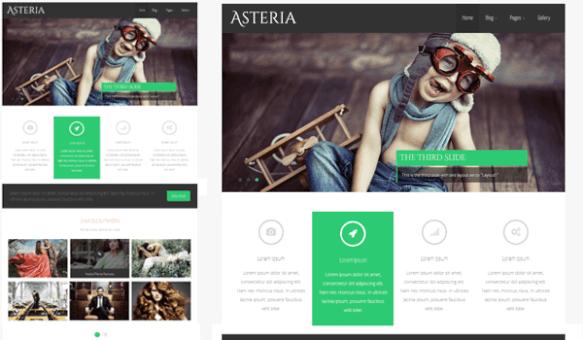 Asteria1 Asteria şablonu ile işyerinizi daha iyi tanıtın