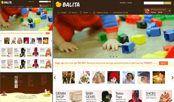 Balita 15+ Ücretsiz Wordpress e ticaret teması