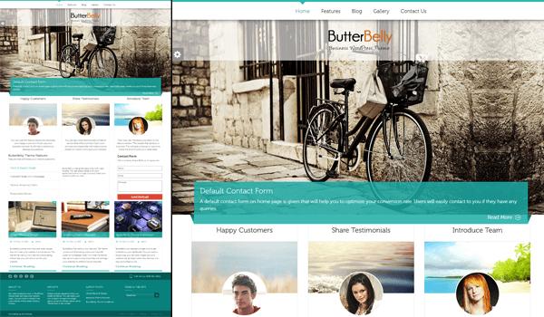 ButterBelly 50+ Ücretsiz Wordpress Firma/Şirket Teması