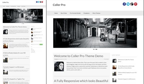 Coller 20+  Ücretsiz Wordpress Kişisel  Blog Temaları