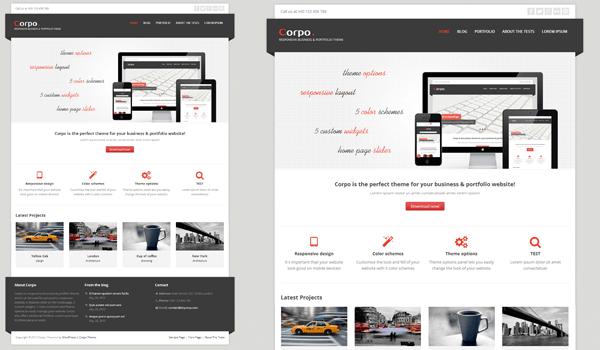 Corpo 50+ Ücretsiz Wordpress Firma/Şirket Teması