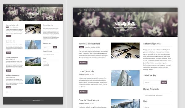 Delighted 20+  Ücretsiz Wordpress Kişisel  Blog Temaları