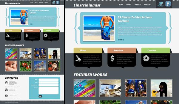 Einsteiniumist 50+ Ücretsiz Wordpress Firma/Şirket Teması