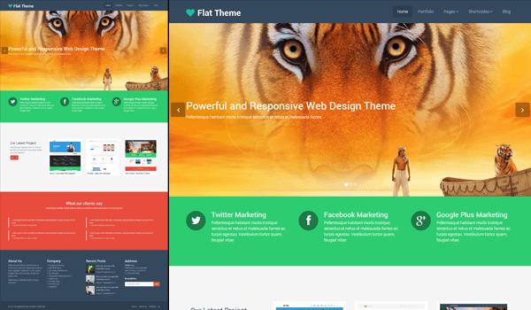 Flat Themes 50+ Ücretsiz Wordpress Firma/Şirket Teması