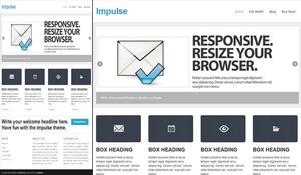 Impulse 50+ Ücretsiz Wordpress Firma/Şirket Teması