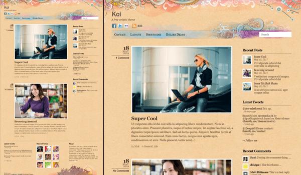 Koi 20+  Ücretsiz Wordpress Kişisel  Blog Temaları