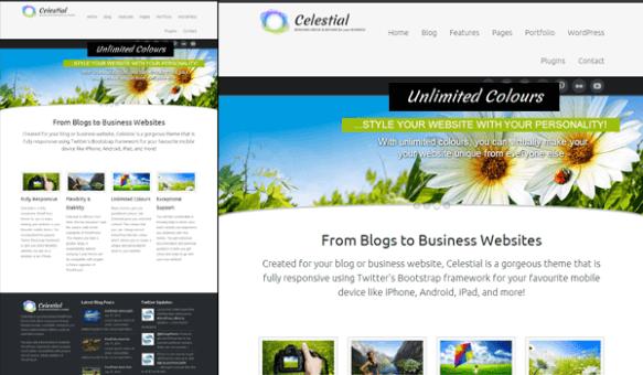 celestial 50+ Ücretsiz Wordpress Firma/Şirket Teması
