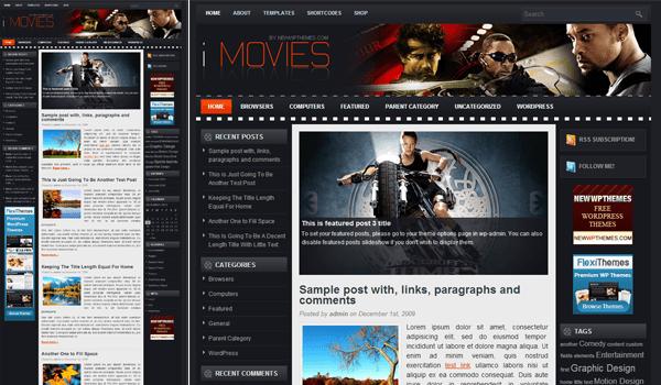 iMovies 10+ Ücretsiz Wordpress Film Temaları