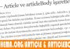 5.Gün - Article ve articleBody işaretlemesi 3