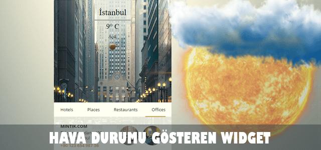 , City Widget – Hava durumu gösteren şehir bileşeni (reklamsız)