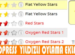 Rating Widget - Yorumlara beğen butonu ekleme