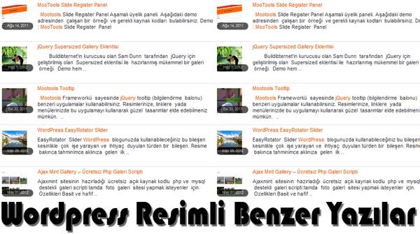 Wordpress resimli benzer yazılar eklentisi