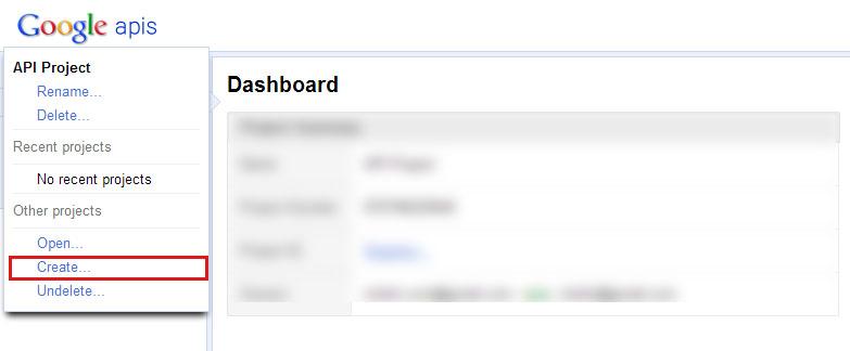 Google api kodu aluşturma alma