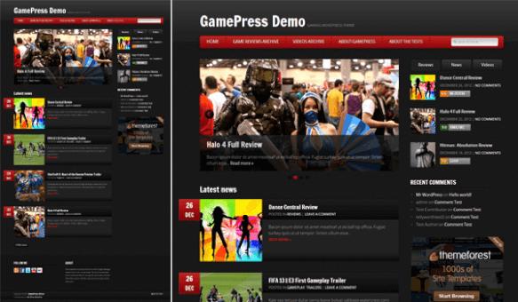 GamePress - Wp oyun inceleme ve tanıtım şablonu