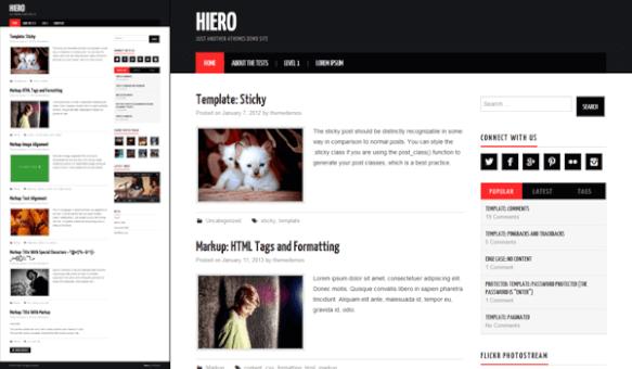 Hiero - Her zevke uygun bir Wp template tasarımı