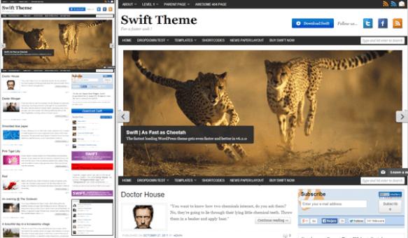 Swift - Göz alıcı bir Wp şablonu