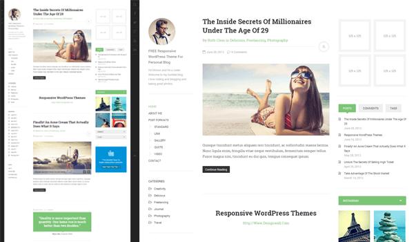 20+  Ücretsiz Wordpress Kişisel  Blog Temaları