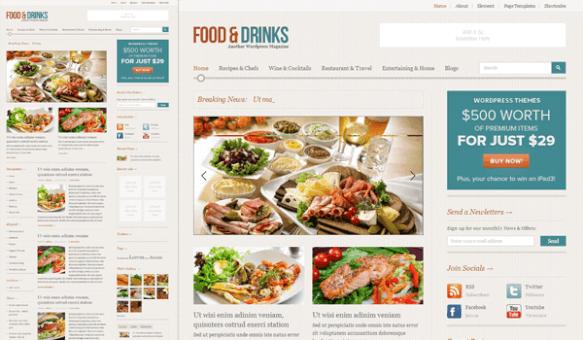 10+ Ücretsiz Wordpress Restaurant Temaları