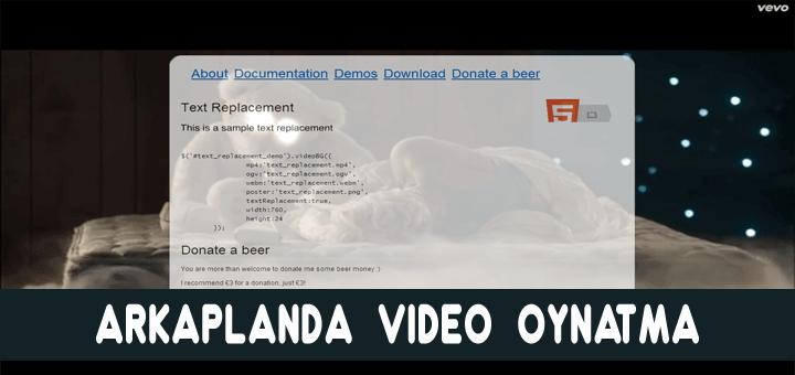 web-site-arkaplanda-video-oynatma
