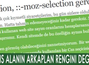 ::selection, ::-moz-selection gereksiz kardeşler