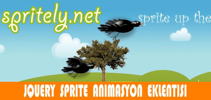 Spritely.js - 3B animasyonlu uçan kargalar 1