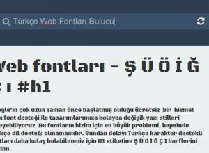 türkçe karakter sorunu olmayan fontlar indir