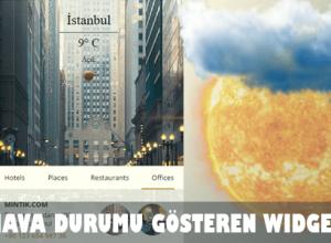hava durumu ekle reklamsız