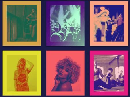 , Spotify gibi çerçeve içindeki resimleri renklendirme filtreleri