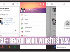 mobil website uygulaması tasarımı