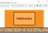 div içinde yazı resim text table metin buton bootstrap dreeamweaver ortalama