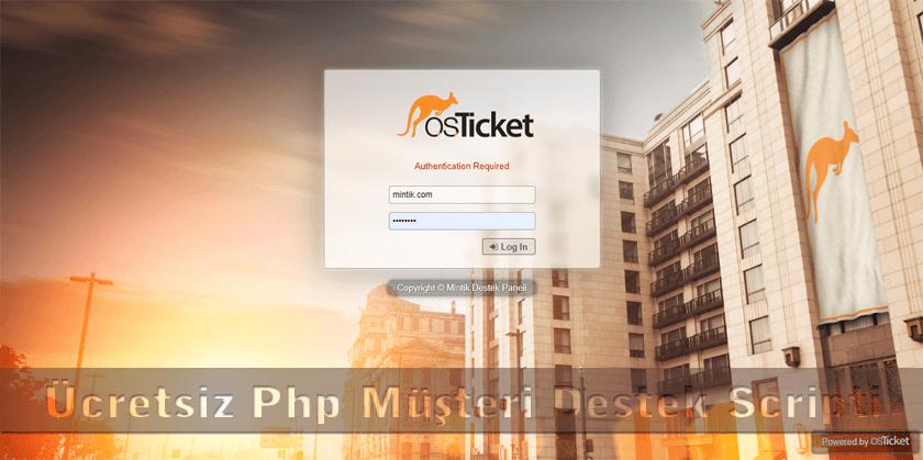 müşteri takip iş takip müşteri destek scripti php